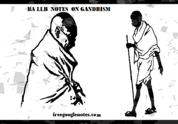 BA LLB First year first semester notes unit-II Gandhism