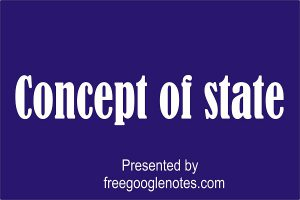 BA LLB Political Theory -1 first year I semester  Concept of state