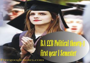 BA LLB 1st Year Political Theory Scope of Political Science Sample Model Practice Question Answer Papers