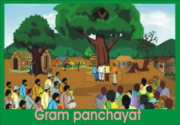 BA LLB sociology first semester sample question answer about Village Panchayat