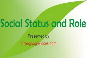 Importance Of Social Status