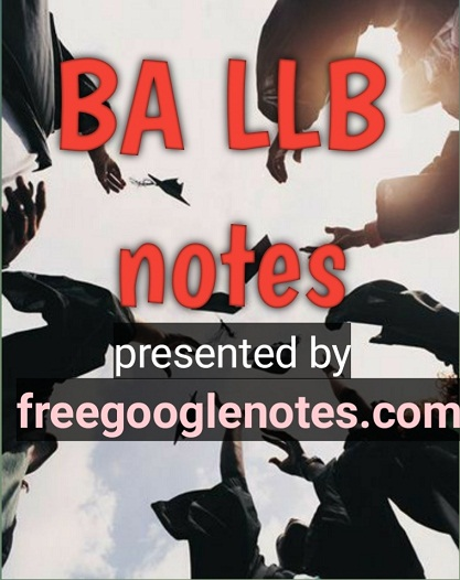 ba llb 1st semester economics notes pdf