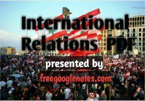 Ba llb 2nd semester international relations notes pdf