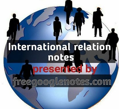 Ba llb 1st year 2nd semester notes international relation
