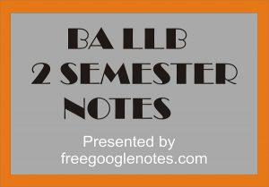Ba Llb 2nd Semester Notes Pdf