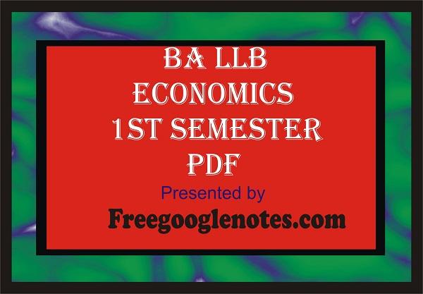 ba llb economics notes pdf