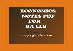 ba llb 1st semester economics notes pdf