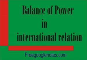 Balance of Power in international relation