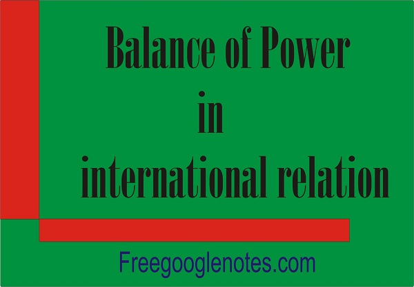 Balance of Power in international relation