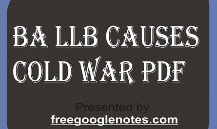BA LLB causes cold war pdf