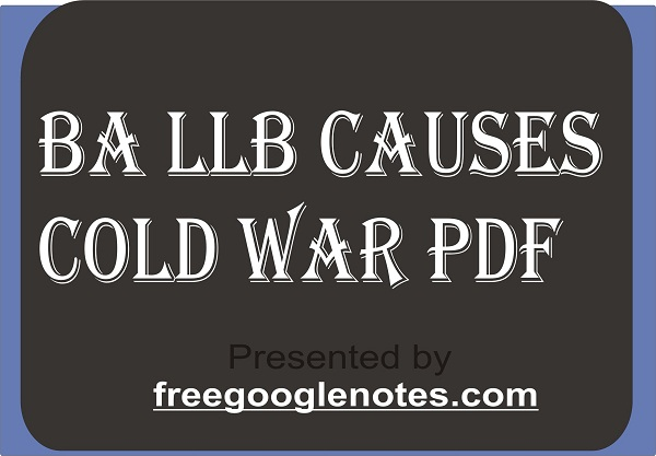 BA LLB causes cold war pdf