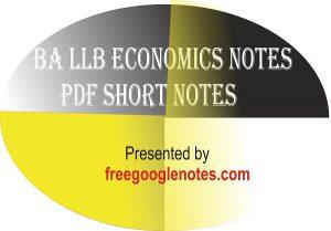 Ba llb economics notes pdf short notes