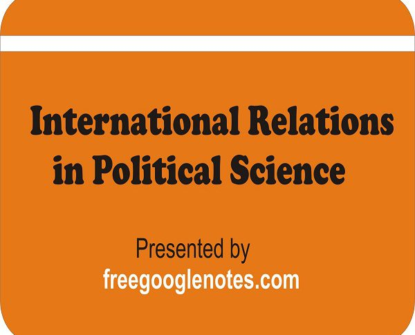 International Relations in Political Science