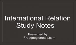 International Relations study notes
