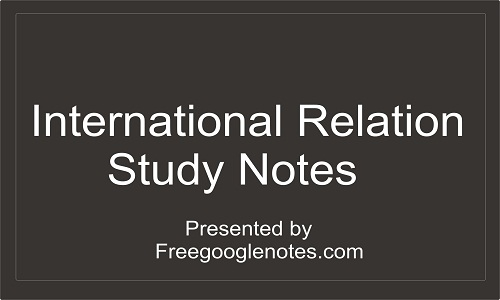 International Relations study notes
