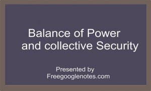 international relations balance of power theory