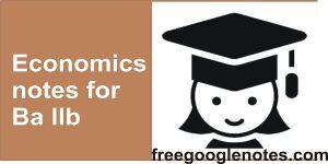 Economics notes for Ba llb