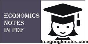 Economics notes in pdf