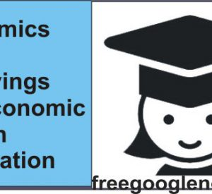 Economics notes on Savings and Economic Growth explanation
