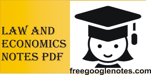 Law and economics notes pdf