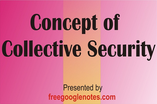 Concept of collective security pdf