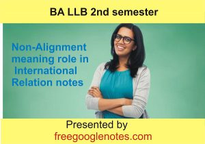 Non-Alignment meaning role in International Relation notes