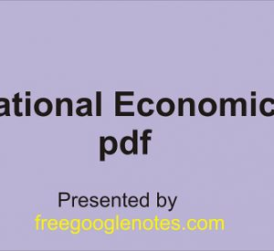 International Economic Order pdf
