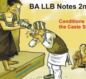 Discuss the conditions favouring the caste system in India