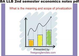 BA LLB 2nd semester economics notes pdf