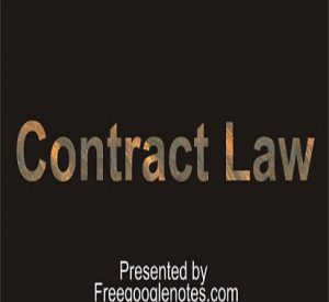 BA LLB 3rd semester notes pdf SHORT ANSWER TYPE QUESTIONS for contract-I